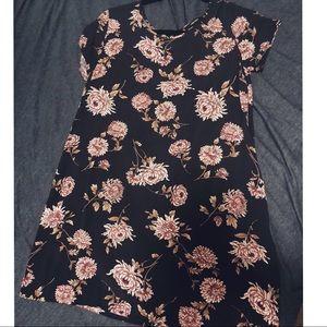 Floral T-shirt dress - Navy Blue / Forever 21